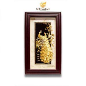 Quà tặng Ý nghĩa tranh phú quý cát tường dát vàng